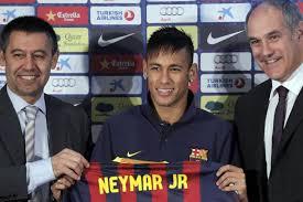 Neymar Llega Al barcelona