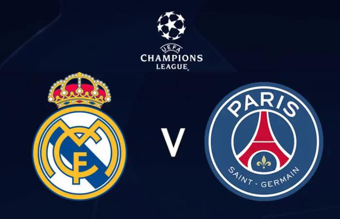 tv real madrid psg